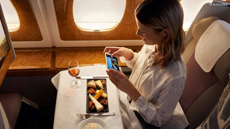 Preisgekrönte Menüs in der Emirates Business Class